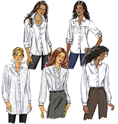 Some commercial ladies shirt patterns.
